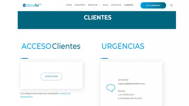 Acceso clientes web